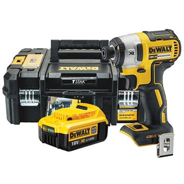 DeWALT DCF887M1 18 Volt Brushless G2 3 Speed Impact Drive, 1 x 4.0Ah Batteries