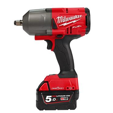 "Milwaukee M18ONEFHIWF34-502X 18 Volt High-Torque 3/4"" Impact Wrench, 2 x 5.0Ah Batteries"