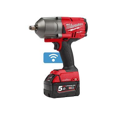 """Milwaukee M18ONEFHIWF34-502X 18 Volt High-Torque 3/4"""" Impact Wrench, 2 x 5.0Ah Batteries"""