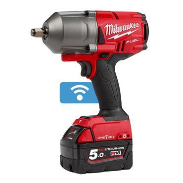 """Milwaukee M18ONEFHIWF12-502X 18 Volt High-Torque 1/2"""" Impact Wrench, 2 x 5.0Ah Batteries"""