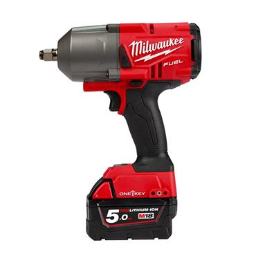 "Milwaukee M18ONEFHIWF12-502X 18 Volt High-Torque 1/2"" Impact Wrench, 2 x 5.0Ah Batteries"