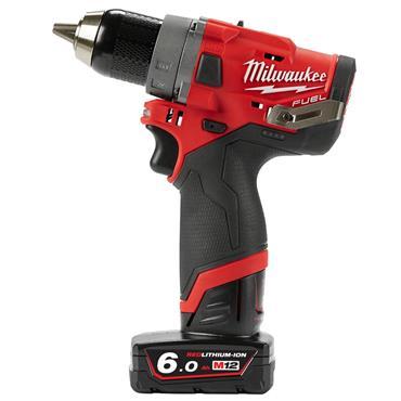 Milwaukee M12FDD-602X 12 Volt Fuel Drill Driver, 2 x 6.0Ah Batteries