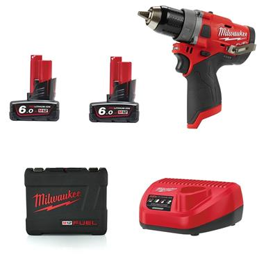 Milwaukee M12FDD-602X 12 Volt Fuel Drill Driver, 2 x 6.0Ah Batteries