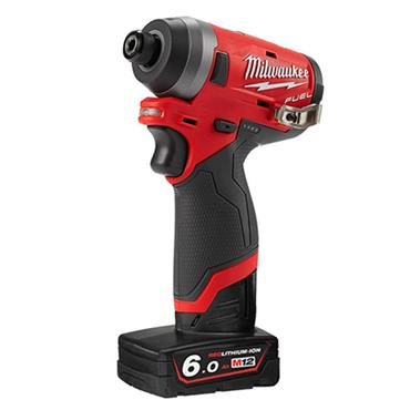 Milwaukee M12FID-602X Fuel Impact Driver Kit, 2 x 6.0Ah Batteries