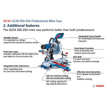 Bosch GCM 350-254 254mm Professional Mitre Saw