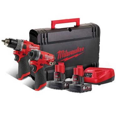Milwaukee M12FPP2A-602X 2 Piece 12 Volt Fuel Power Pack, 2 x 6.0Ah Batteries