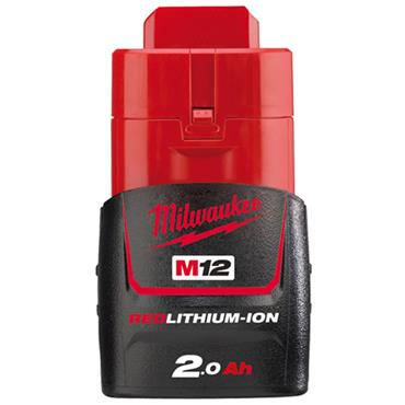 """Milwaukee M12FIR38-201B 12 Volt Fuel 3/8"""" Impact Ratchet Kit, 1 x 2.0Ah Batteries"""
