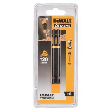 DeWALT DT70568T-QZ 2 Piece T20 85mm Impact Resistant Torsion Bits