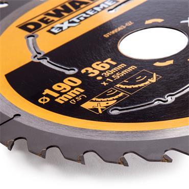 DeWALT 190 x 30 x 36T, Xtreme Runtime Flexvolt Saw Blade - DT99563-QZ