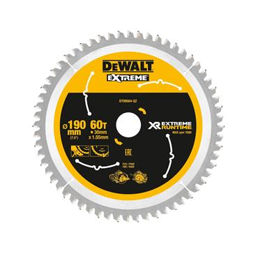 DeWALT 190 x 30 x 60T, Xtreme Runtime Flexvolt Saw Blade - DT99564-QZ