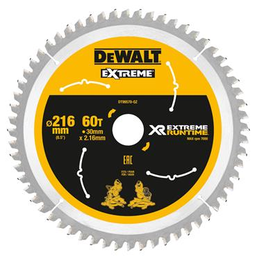 DeWALT 216 x 30 x 60T, Xtreme Runtime Flexvolt Saw Blade - DT99570-QZ