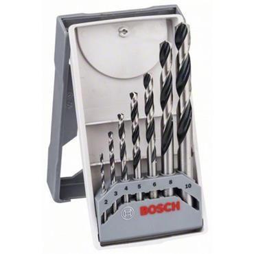 Bosch 2608577347 7 Piece Metal PointTeQ Twist Drill Bit Mini X-Line Set