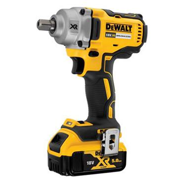 "DeWALT DCF894P2 18 Volt XR Brushless 1/2"" Compact High Torque Wrench Kit, 2 x 5.0Ah Batteries"