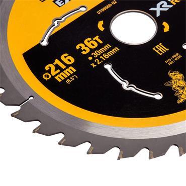 DeWALT 216 x 30 x 36T, Extreme Runtime Mitre Saw Blade - DT99569-QZ