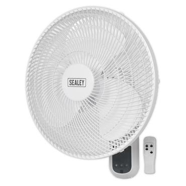 Sealey SWF16WR 240 Volt 3-Speed Remote Control Wall Fan