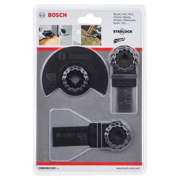 Bosch 2608662343 3 Piece Multi-Tool Wood and Metal Blade Set