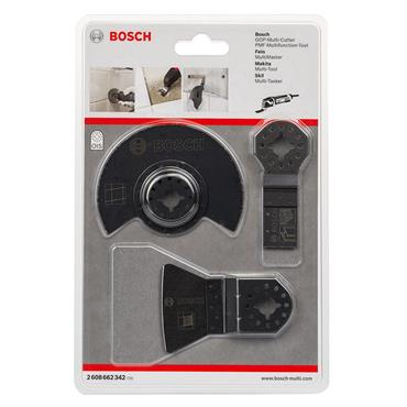 Bosch 2608662342 3 Piece Multi-Tool Blade Set for Tiles