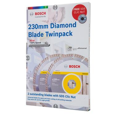 Bosch 230 x 23.23mm Diamond Blade Twinpack - 06159975T0