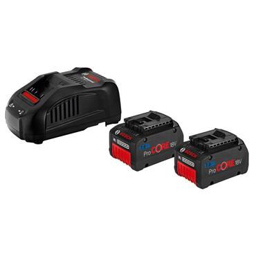 Bosch 1600A013H5 18 Volt Charger Starter Set, 2 x 7.0Ah Batteries