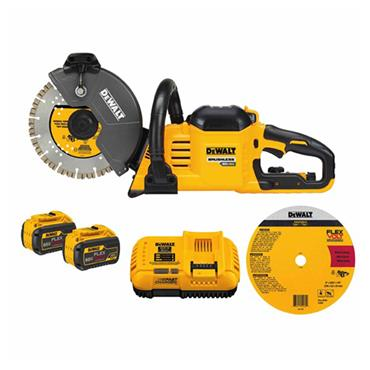 DeWALT DCS690X2 54 Volt Brushless Cut-Off Saw Kit, 2 x 9.0Ah Batteries