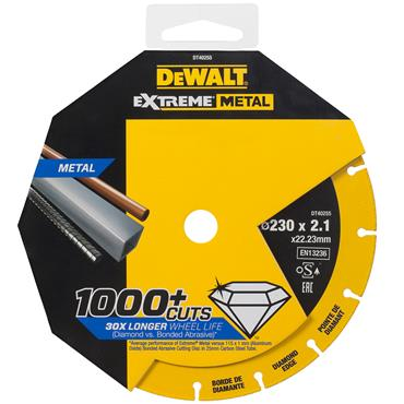 DeWALT 230 x 1.5mm Metal Cutting Disc - DT40255-QZ