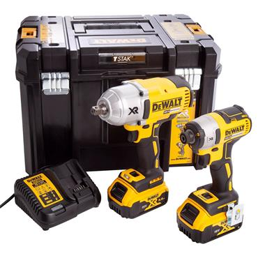 DeWALT DCK2088P2T-GB 18 Volt Brushless Twin Pack Kit, 2 x 5.0Ah Batteries