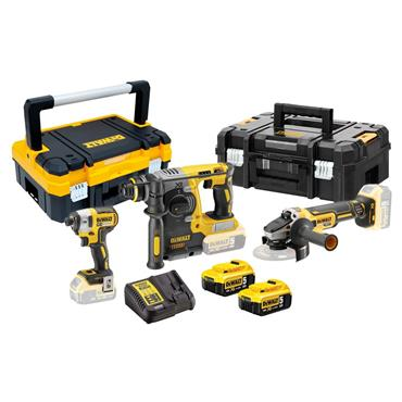 DeWALT DCK305P2T 18 Volt Triple Pack Kit, 2 x 5.0Ah Batteries