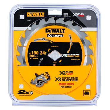 DeWALT 190 x 1.55 x 24T, Circular Saw Blade - DT40270-QZ