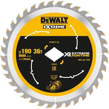 DeWALT 190 x 1.55 x 36T, Circular Saw Blade - DT40271-QZ