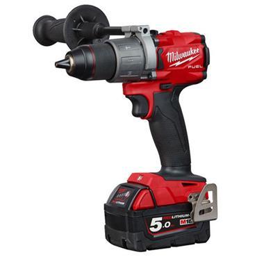 Milwaukee M18 FPD2-502X 18 Volt  Fuel Percussion Drill, 2 x 5.0Ah Batteries