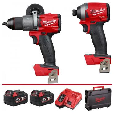 Milwaukee M18FPP2A2-502X 18 Volt 2 Piece Fuel Power Pack, 2 x 5.0Ah Batteries
