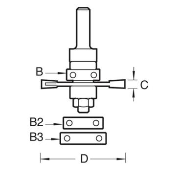 """Trend 342X1/2TC Biscuit Jointer Set - 1/2"""" Shank"""