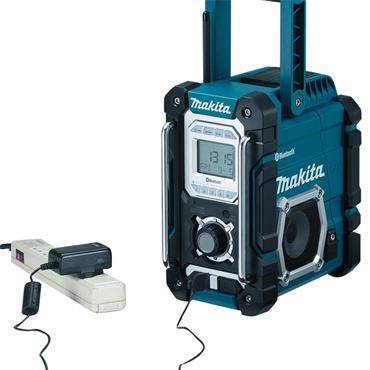 Makita DMR108 7.2 - 18 Volt Job Site Radio with Bluetooth and USB Charger - Blue
