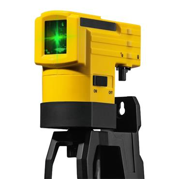 Stabila 03265 LAX 50 G Green Beam Cross Line Laser with Telescopic Mount