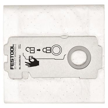 Festool 204308 Self Clean Filter Bags for CTL Midi/Mini - 5 Pack