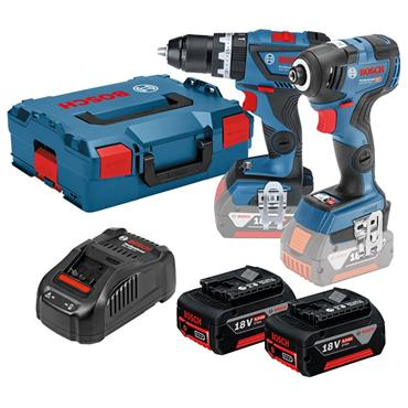 Bosch 06019G4172 Brushless Combi Drill and Impact Driver Twin Kit, 2 x 5.0Ah Batteries