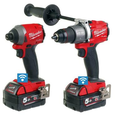 Milwaukee M18ONEPP2A2-502X 18 Volt One-Key Fuel Twin Kit, 2 x 5.0Ah Batteries