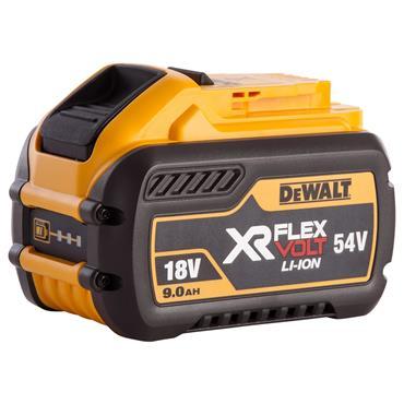 DeWALT DCB547-XJ 18/54 Volt XR Flexvolt Convertible Battery Pack, 1 x 9.0Ah Batteries