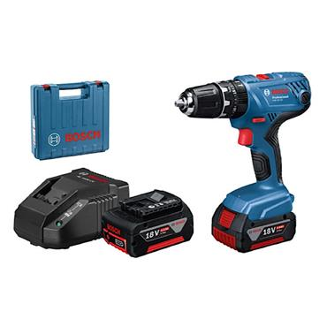 Bosch GSB 18 V-21 Plus Professional Compact Combi Drill, 2 x 4.0Ah Batteries