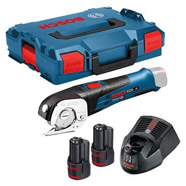 Bosch GUS 12V-300 12 Volt Professional Universal Shears, 2 x 2.0Ah Batteries