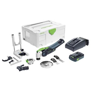 Festool 574852 18 Volt Cordless Oscillator Multi-Tool Accessory Kit, 1 x 3.1Ah Batteries