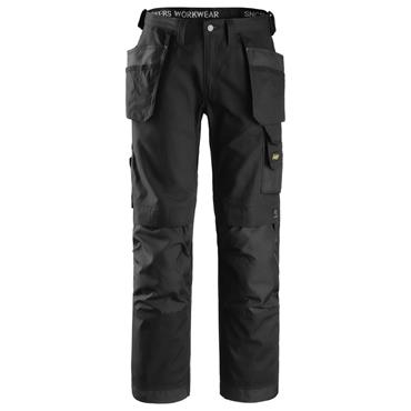 Snickers 3214 Canvas+ Craftsmen Holster Pocket Trousers - Black