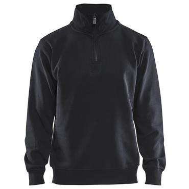 Blaklader 3365 Half Zipped College Jersey - Black