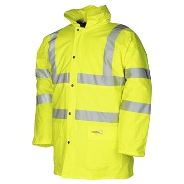 Sioen 7650 Tacana High-Visibility Padded Rain Jacket - Yellow