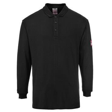 CITEC FR10 Flame-Resistant Anti-Static Polo Shirt - Black