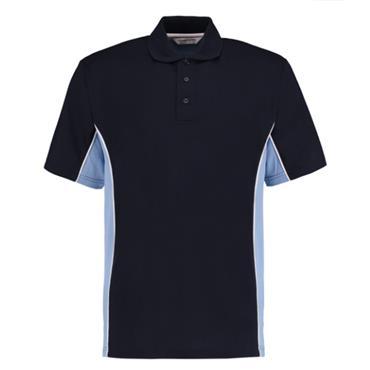 CITEC KK475 Gamegear Track Polo Shirt - Light Blue/Navy/White