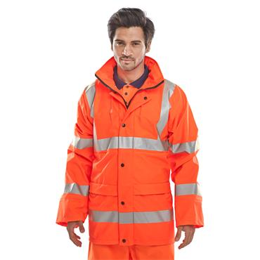 CITEC PUJ471 High-Visibility B-Dri Breathable Jacket - Orange