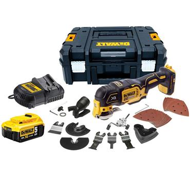 DeWALT DCS355P1 18 Volt XR Brushless Oscillating Multi-Tool, 1 x 5.0Ah