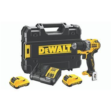 DeWALT DCD701D2 12 Volt XR Brushless Compact Drill Driver, 2 x 2.0Ah Batteries