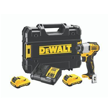 DeWALT DCF801D2 12 Volt Brushless Impact Driver, 2 x 2.0Ah Batteries